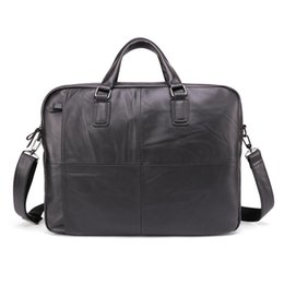 $enCountryForm.capitalKeyWord UK - Free ship Men Briefcases Lawyer Genuine Leather Handbag Vintage Laptop Briefcase Messenger Bags Casual Men's Bag For Documents