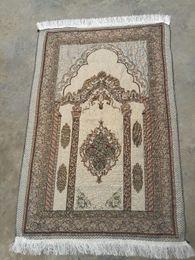 Discount muslim prayer mats - Islamic Muslim Prayer Mat 70*110 Saudi Arab Turkish Dubai Prayer Rug Home Wear Ramadan Cotton Soft Blanket Carpets Mats