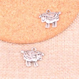 $enCountryForm.capitalKeyWord Australia - 50pcs Antique Silver Plated sheep lamb Charms Pendants fit Making Bracelet Necklace Jewelry Findings Jewelry Diy Craft 18*16mm