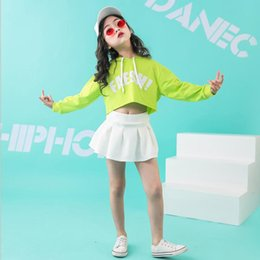 $enCountryForm.capitalKeyWord NZ - Kid Hip Hop Hoodie Clothing Outfits Casual Skirt Shorts Oversized T Shirt Tops for Girls Boys Dance Costume Ballroom Outfits