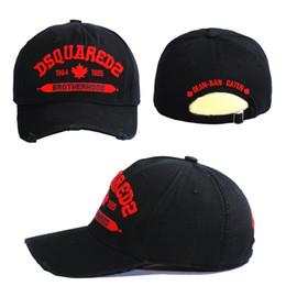 Einstellbare Buchstaben Bestickte Mütze Baseballmütze aus europäischer und amerikanischer Baumwolle DSQICOND2 Sportmützen für Herren und Damen Headwears Snapbacks im Angebot