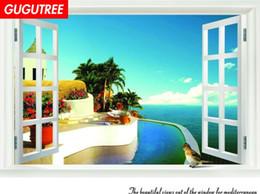 $enCountryForm.capitalKeyWord Australia - Decorate home 3D windows cartoon art wall sticker decoration Decals mural painting Removable Decor Wallpaper G-2449