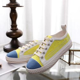 $enCountryForm.capitalKeyWord Australia - 2019 spring fall summer womens real leather cap toe with white canvas Fabric lace up Trainers Casual Shoe flat platform sneakers 35-45