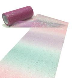 $enCountryForm.capitalKeyWord Australia - Rainbow Glitter Tulle Roll Sequin Crystal Organza Sheer Fabric DIY Craft Gift Tutu Skirt Home Wedding Decoration ZC0600