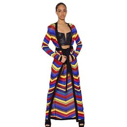 $enCountryForm.capitalKeyWord UK - Europe and America high quality color striped belt and long mesh knit cardigan coat