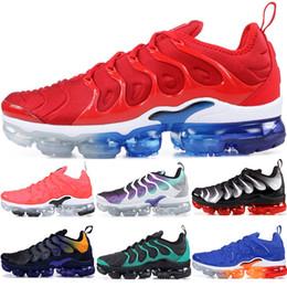 reputable site ee28d 073df 2019 Cheap TN Plus Mens Women Running Shoes Grape Game Royal Bright Crimson  USA Blue Orange Photo Blus Trainers Sports Sneakers 36-45
