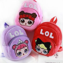 Wholesale Cartoon doll Plush Backpack School Bag Girl Boy Kids Children School Bags doll Backpacks Baby Infantil Escolar Mochilas DHL free