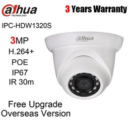 Dahua 3mp UK - DH IPC-HDW1320S English Version with Dahua logo 3MP Eyeball Network Camera POE IP67 Shipping IPC-HDW1320S 2019 Hot Sale