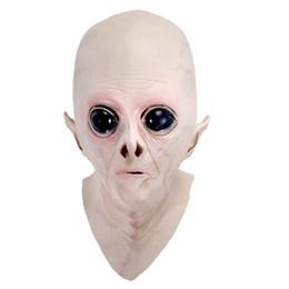 $enCountryForm.capitalKeyWord UK - Newly Halloween Creepy Vinyl UFO Alien Head Mask Cosplay Party Supplies XSD88