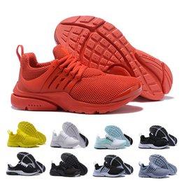 Gray Mens Summer Shoes Australia - New Arrive all red presto Men Running Shoes Women Triple White Black Blue Gray Prestos Sneakers Zapatos mens trainer outdoor Sports Shoes