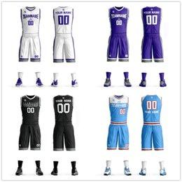 Totalmente Personalizado Mens Juventude Crianças Seu Nome de Equipe Número Uniforme de Basquete Jersey personalizado Jersey Conjuntos de camisa de basquete venda por atacado