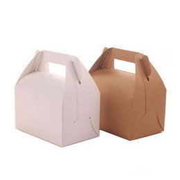 $enCountryForm.capitalKeyWord UK - Retro Portable Cupcake Box Kraft Paper Gift Box Wedding Candy Cake Packing Box 13*8.5*8cm