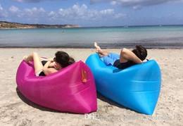 Inflatable Living Room Furniture Australia - Lazy Inflatable Sofa Camping Outdoor Air Sleep Sofa Banana Shape Beach Lay Bag Couch Portable Furniture Big Living Room Bed Sofa