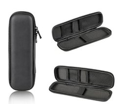 hard electronics Canada - Black Pen Case Portable EVA Hard Shell Pen Holder Office Stationery Case Pouch Earphone Makeup Storage Bag