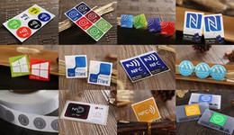 4 Pcs NTAG213 13,56 MHZNFC 144 byte cor capacidade do cartão de etiqueta eletrônica ticker disponível Telefone adesivo Etiquetas RFID em Promoção