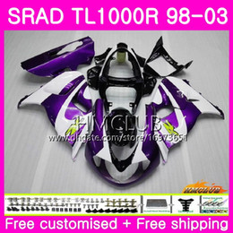 fairings srad Australia - Injection For SUZUKI SRAD TL 1000 R TL1000R 98 99 00 01 02 03 16HM.11 TL1000 R TL 1000R 1998 1999 2000 2001 2002 2003 Fairing Purple white