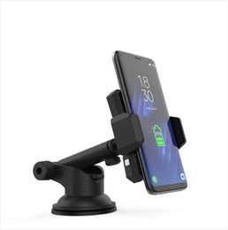 Wholesale High quality Car Phone Holder Mount Stand Support Dashboard Automatic induction cell phone holder for iPhone X iPhone plus Samsung S8 S7