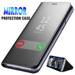 $enCountryForm.capitalKeyWord Australia - Official Metallic Plating Smart Mirror Window View Stand Kickstand Flip Cover Case For iPhone XS Max XR X 8 7 6 6S Plus Anti-knock