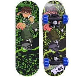 1b358964db9 17 inch four-wheels skateboard Double-sided colorful stickers skateboards  street downhil mini skates board for beginners kids