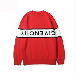 Hand knit clotHing online shopping - GV Designer Sweater For Men Pullover Luxury Hoodies Sweatshirts With Letters Long Sleeve Spring Brand Jumper Tops Clothing M XL