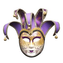 $enCountryForm.capitalKeyWord Australia - Vintage Jolly Joker Venetian Masquerade Mask Costume Halloween Cosplay Mask For Party,Ball Prom,Mardi Gras,Wedding,Wall Decoration