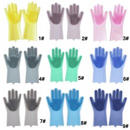 $enCountryForm.capitalKeyWord Australia - Magic Silicone Washing Gloves Eco-Friendly Scrubber Dish Cleaning Glove Kitchen Bathroom Pet Care Grooming Tool