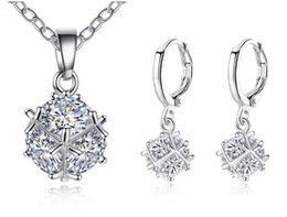 Best Christmas Gift Sets Australia - ball crystal Pendant Necklace and earring Jewelry Sets rhinestone Zircon earstud and collar for Wedding Jewelry best gifts
