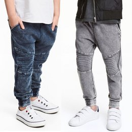 Bikes for BaBy online shopping - Baby Boys Pencil Sports Pants Spring New Water Washing Jogging Pants Children Elastic Soft Jeans For Kids Fashion Bike