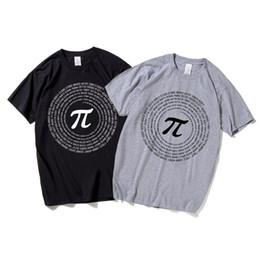 0a8ceb34 Math Funny Pi Formula Print T Shirt Men Summer Style Short Sleeve Tee Tops  Mathematical Text Harajuku Male T Shirt S5mc54