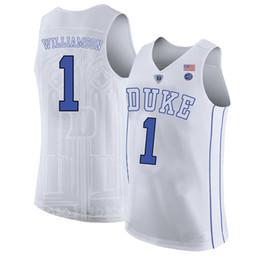 443537875b7d Zion Williamson Men s White Duke Blue Devils Cam Reddish RJ Barrett Marvin  Bagley III Jayson Tatum Stitched College Basketball Jersey