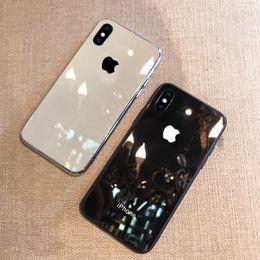 Опт Роскошный стеклянный гальванический чехол для Apple iPhone 6 7 8 X Plus XS XR Max Чехлы i7 Plus 8 Plus 6s Защитная крышка