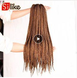 "12 Packs Australia - 12"" 18"" 22"" Crochet Box Braids Synthetic Hair 12 Roots Pure Colors Crochet Braiding Hair Extensions 90-100 g 1 pack lot"