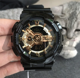 Discount g shock style watches - Wholesale Shock Sport Wrist Watches G Style Waterproof Men's Watches Rubber Strap All Function Work Hot Selling Mil