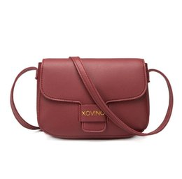 $enCountryForm.capitalKeyWord Australia - Korea Dongdaemun autumn and winter new solid color semi-circle saddle handbags wild casual shoulder slung pouch