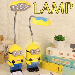 minion lamps Australia - bedside table lamp modern table lamp for bedroom kid Baby Boys Girls Flexible Cute Minions Folding Mini Lamps LED Eyeshield Night Light