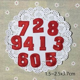 Embroidered Number Patches Australia - Multicolor digital number Arabic digital Letter Patches Embroidered Iron On Patch For Clothing Badges Paste For Bag Pants Sewing Appliques D