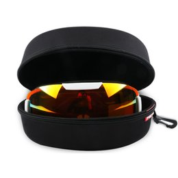 303a38567e0 Portable EVA Ski Goggle Protector Case Sunglasses Carrying Zipper Hard  Waterproof Black Box Holder with Buckle Hook
