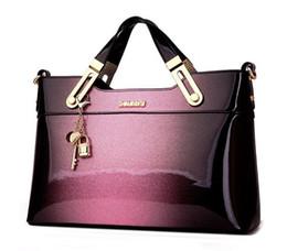 7e4e92ab91c6d Damen Tasche neue europäische und amerikanische Mode Mutter mittleren  Alters Atmosphäre tragbare Big Bag Lackleder Handtasche