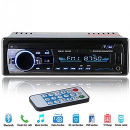 Vente en gros HOT 12V Bluetooth Stéréo de voiture Radio FM Lecteur audio MP3 Chargeur 5V USB SD AUX Auto Électronique Subwoofer In-Dash 1 DIN Autoradio