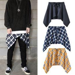 $enCountryForm.capitalKeyWord Australia - Cool2019 High Ins Hip-hop Street Justinbieber Hee Bow Bring Accessories Lattice Shirt False Skirt Shirt Skirt