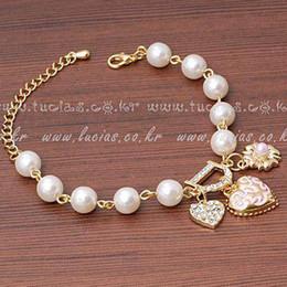$enCountryForm.capitalKeyWord Australia - Hot Fashion Unlimited Bangle Bracelets Charm Heart Flower Simulated Pearl Crystal D Word Beaded Bracelet For Women Jewelry