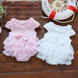 $enCountryForm.capitalKeyWord Australia - Summer Infant Girls Princess Dress Baby Christening Baptism Gown Party Wedding 0-3 3-6 6-9 Months Bodysuit Q190520
