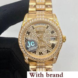 Stainless Steel Unisex Luxury Watches Australia - luxury fashion unisex watches 36mm dial diamonds case gold stainless steel watch sapphire Asia 2836 automatic movement watch