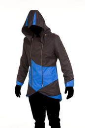 Wholesale costume assassins creed resale online - Game Long Sleeves Hooded Jacket Assassins Creed Costume Mens Halloween Theme Costume Cospaly Mens Designer