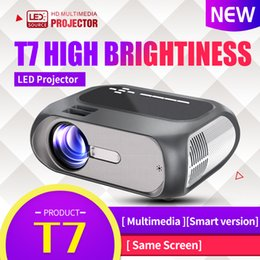 full hd led lcd NZ - T7 Full HD projector 1280*720 resolution 200ANSI LCD projecor USB VGA beamer for cinema LED projector vs t6 projector