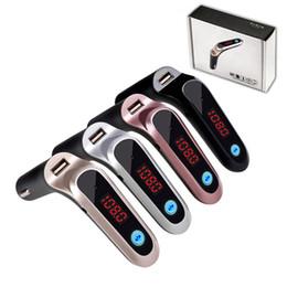Transmisor FM S7 Bluetooth Car Kit Manos libres Inalámbrico Radio FM Adaptador LED Adaptador Bluetooth para automóvil Soporte TF Tarjeta AUX con el paquete al por menor