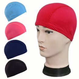 $enCountryForm.capitalKeyWord Australia - Male and female adult children swimming bath cap nylon fabric suitable for elastic 1PC elastic waterproof swimming cap