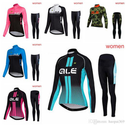 Women ALE team Cycling long Sleeves jersey long pants sets 2018 Summer men  Breathable Bike Clothing Quick Dry Bicycle Sportwear 1018L f3fb5a958