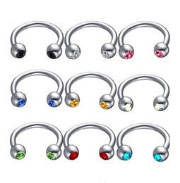$enCountryForm.capitalKeyWord Australia - Anodized Nose Rings eyebrow ring Surgical Steel Body Jewelry Crystal Sexy Piercing Hoop horseshoe Daith Tragus Earring Women Men