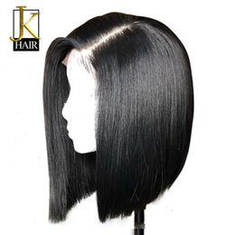 lace front 1b 27 UK - Short Human Hair Bob Wigs For Women Ombre 1b 27 Black Roots Remy Brazilian Lace Front Human Hair Wigs Plucked With Baby Hair Jk Y190713